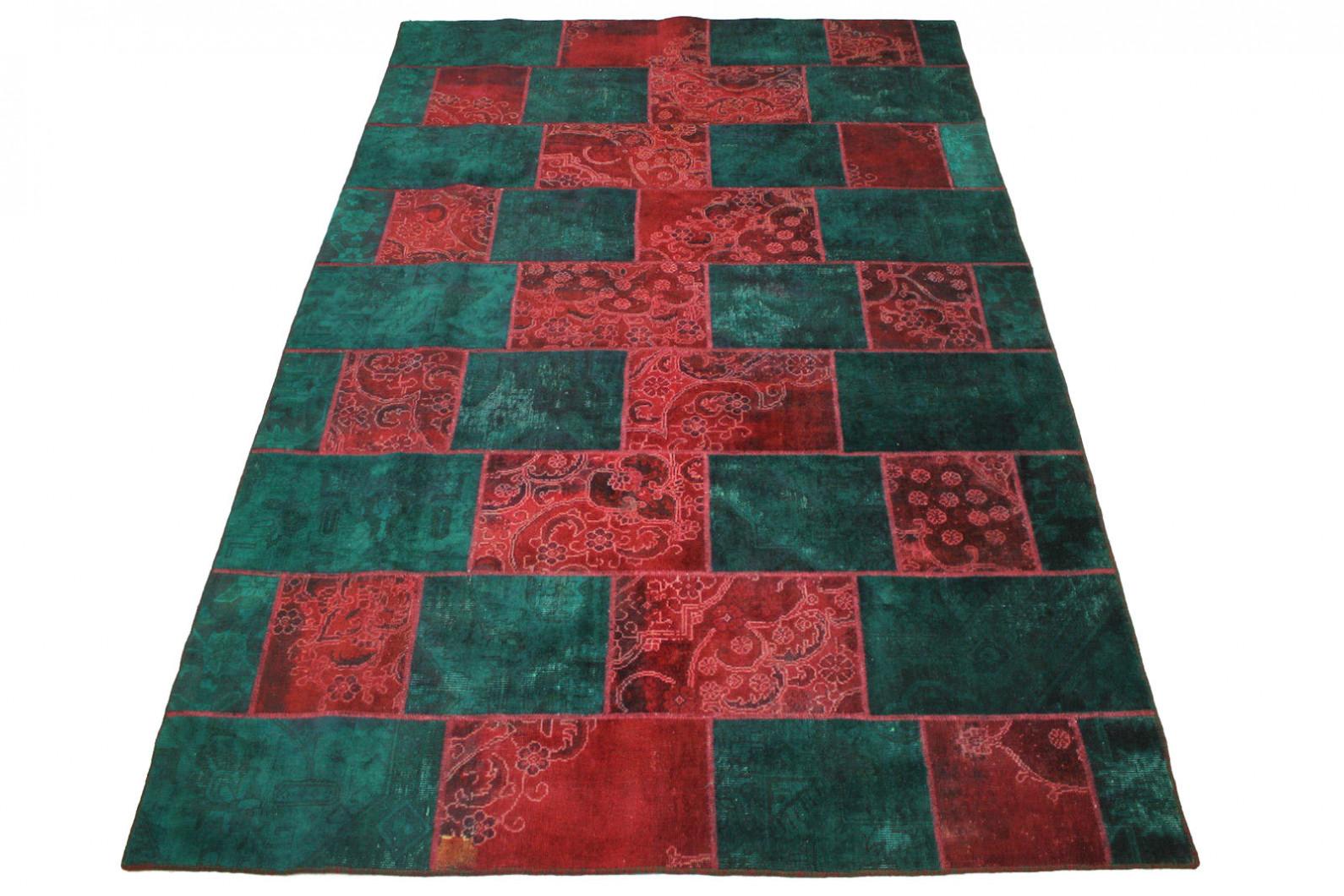 Patchwork Teppich Rot Türkis in 300x200cm (1 / 5)
