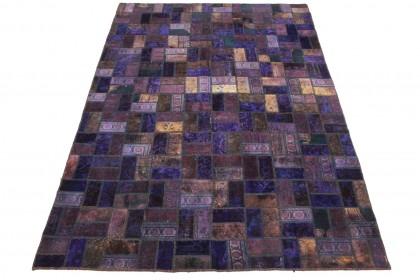 Patchwork Teppich Lila in 290x200cm 1001-2014