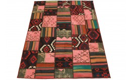 Kilim Patchwork Rug Red Rose in 200x150cm