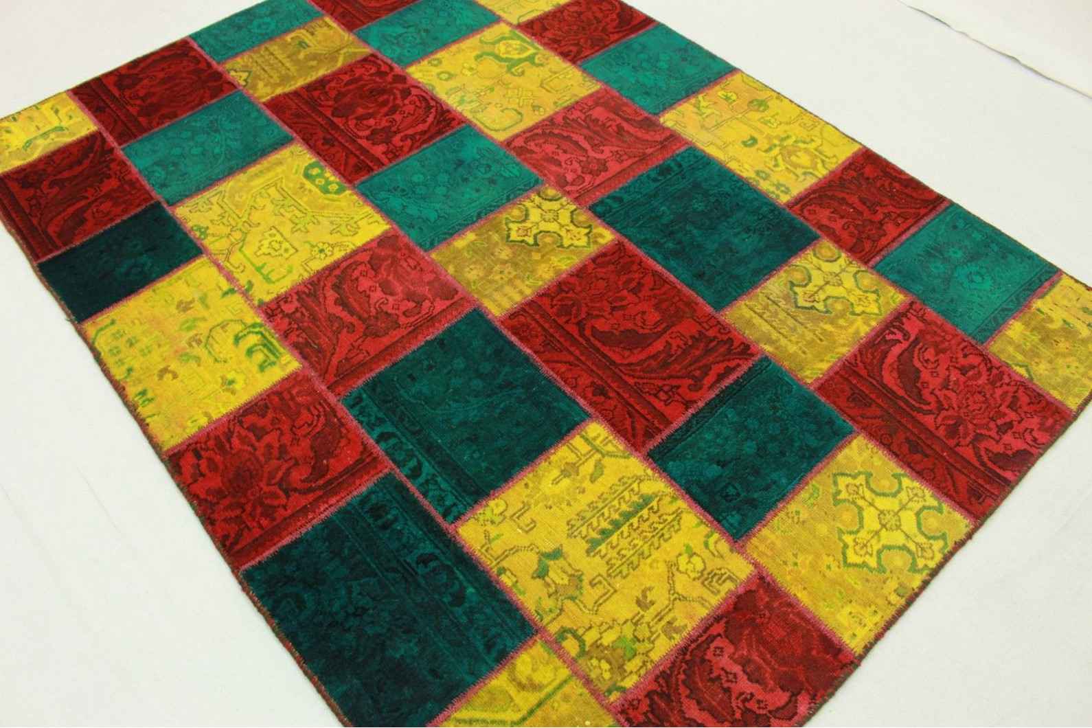 patchwork teppich in 200x150cm 1001 2028 bei kaufen. Black Bedroom Furniture Sets. Home Design Ideas