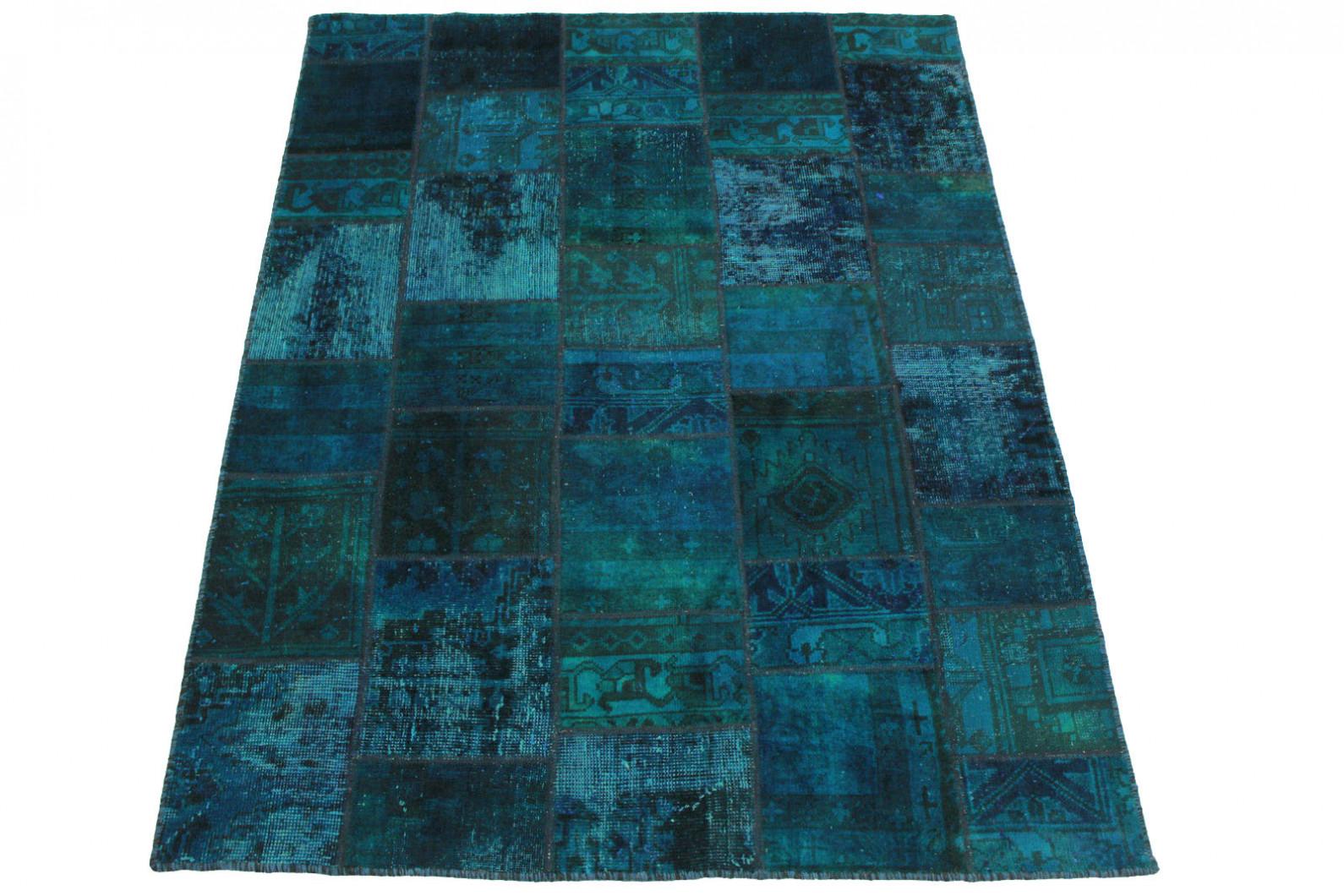 patchwork teppich blau t rkis in 200x150cm 1001 2032 bei kaufen. Black Bedroom Furniture Sets. Home Design Ideas