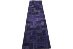 Patchwork Teppich Läufer Lila in 280x80cm