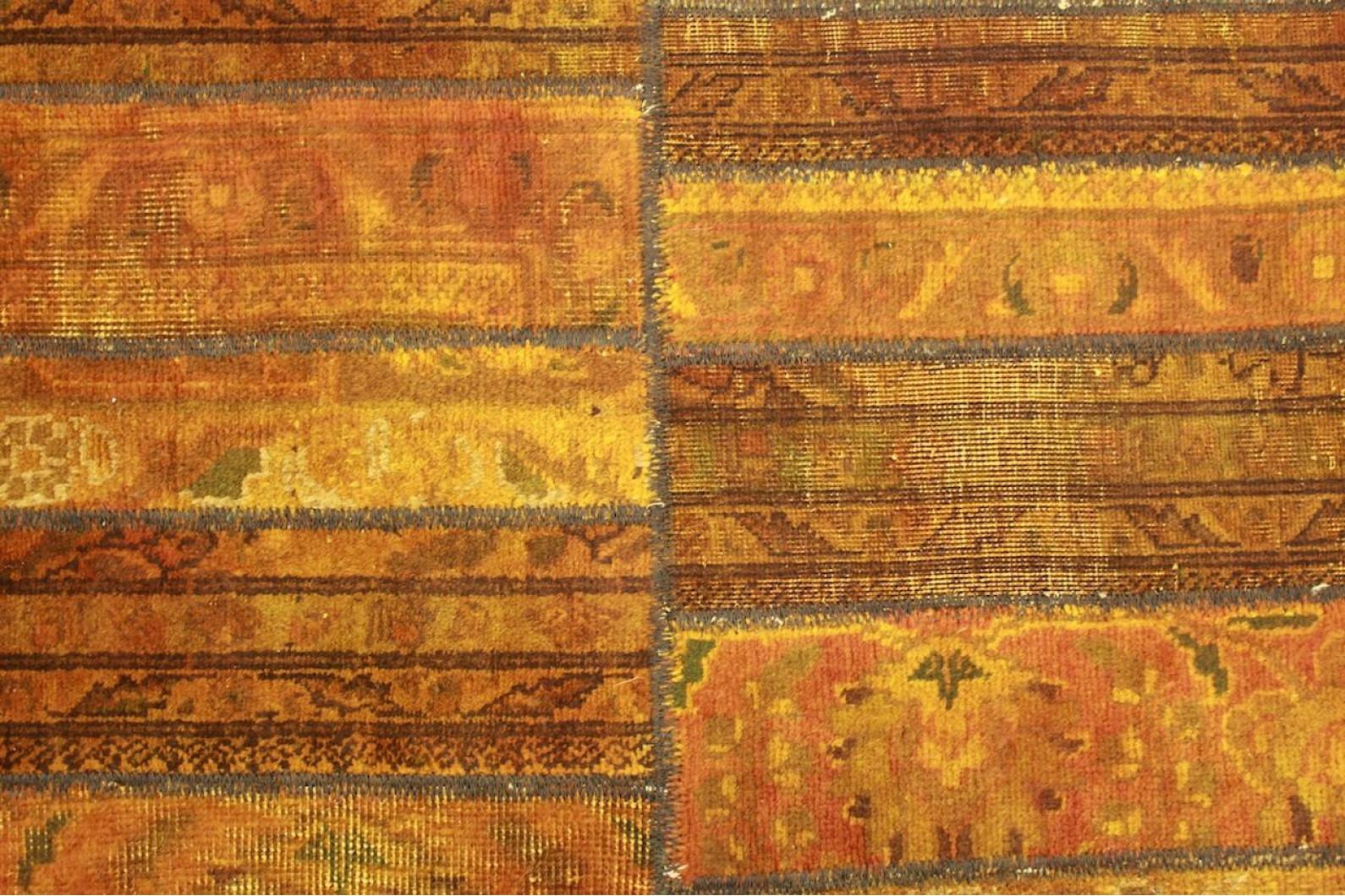 Patchwork teppich orange braun in cm bei