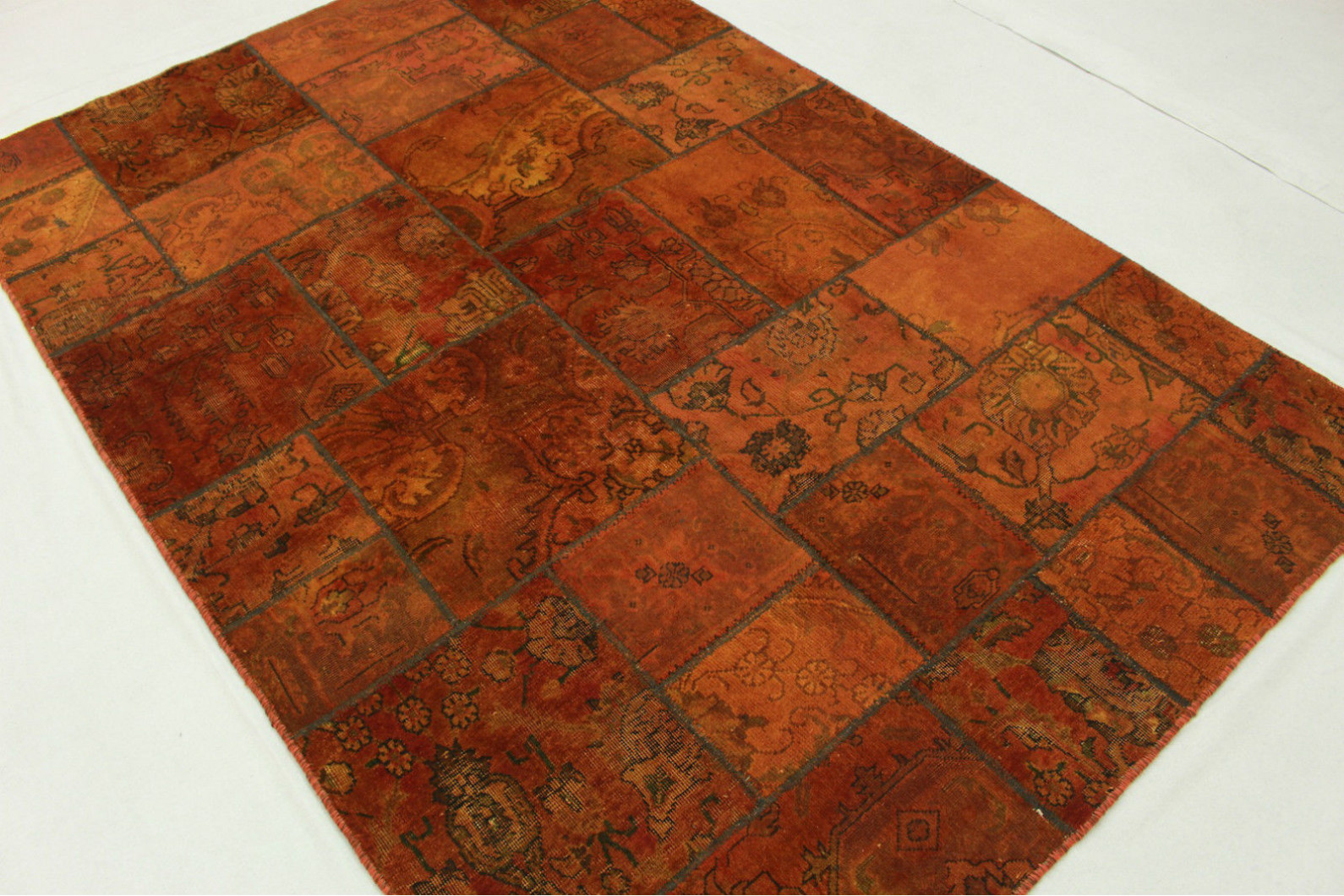 patchwork teppich orange rost in 240x160cm 1001 2080 bei kaufen. Black Bedroom Furniture Sets. Home Design Ideas