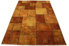 Patchwork Teppich Orange in 240x160cm
