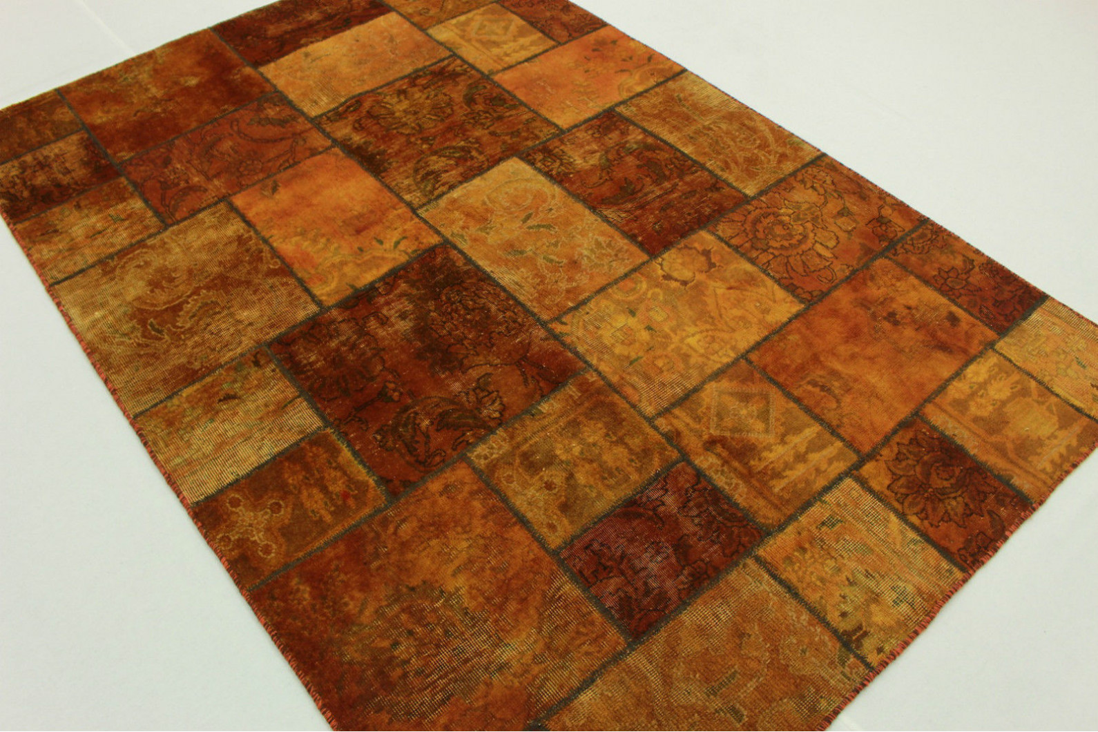 Teppich orange  Patchwork Teppich Orange Braun in 240x170cm (1001-2092) bei ...