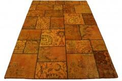 Patchwork Teppich Orange Braun Curry in 240x160cm
