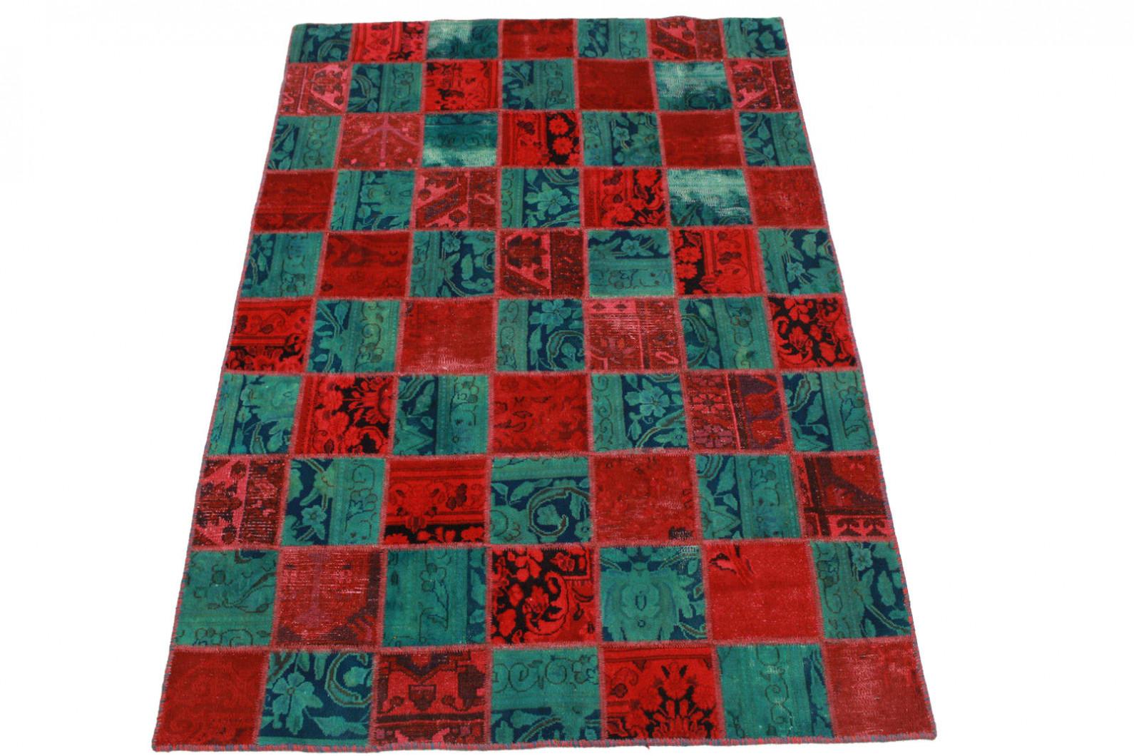 patchwork teppich rot blau in 200x140cm 1001 2100 bei kaufen. Black Bedroom Furniture Sets. Home Design Ideas