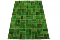 Patchwork Teppich Grün in 200x140cm