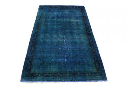 Carpetido Design Vintage-Teppich Blau in 210x130