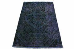 Carpetido Design Vintage Rug Petrol Blue in 160x100