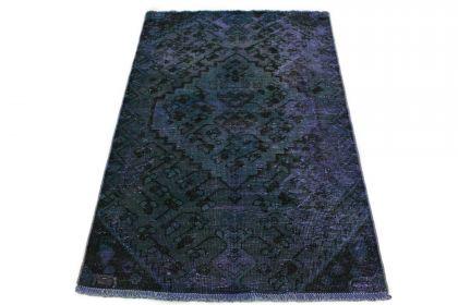 Carpetido Design Vintage-Teppich Petrol Blau in 160x100