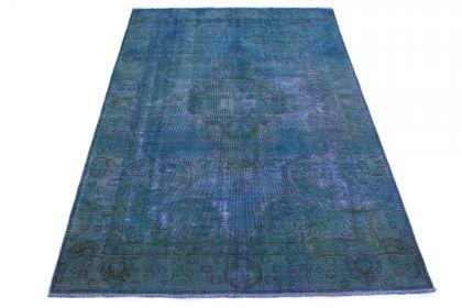 Carpetido Design Vintage-Teppich Petrol Blau in 280x180