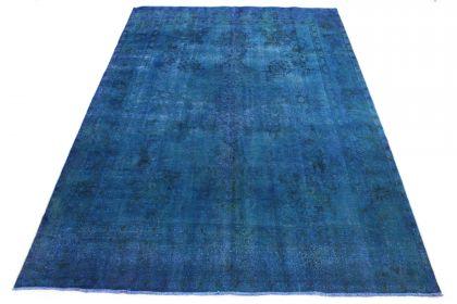 Carpetido Design Vintage-Teppich Blau in 380x280