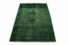 Carpetido Design Vintage-Teppich Grün in 190x130