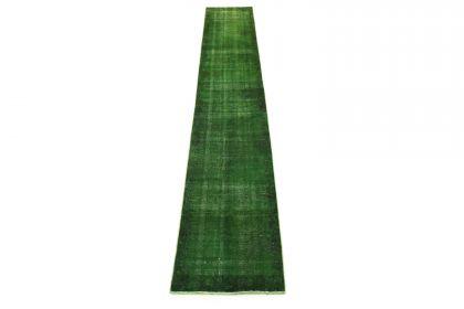 Carpetido Design Vintage-Teppich Grün in 430x60