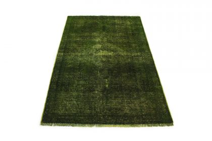 Carpetido Design Vintage-Teppich Grün in 180x110