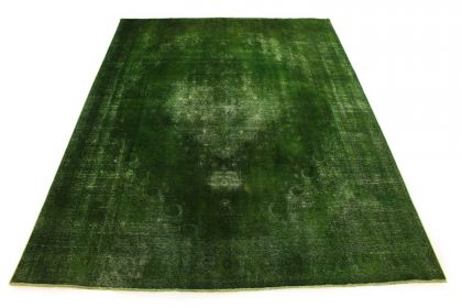 Carpetido Design Vintage-Teppich Grün in 380x290