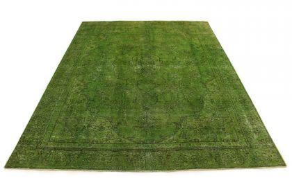 Carpetido Design Vintage-Teppich Grün in 370x280