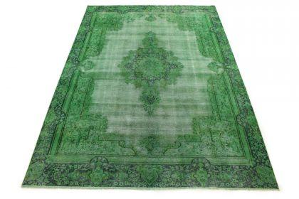 Carpetido Design Vintage-Teppich Grün in 370x260