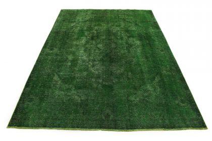 Carpetido Design Vintage-Teppich Grün in 290x190