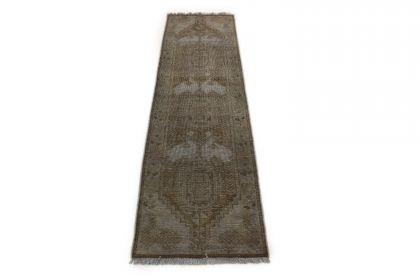 Carpetido Design Vintage-Teppich Läufer Beige Sand in 210x60