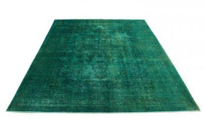 Carpetido Design Vintage Rug Turquoise Green in 370x290