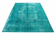 Carpetido Design Vintage-Teppich Türkis Grün in 410x320