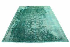 Carpetido Design Vintage Rug Turquoise Green in 380x290