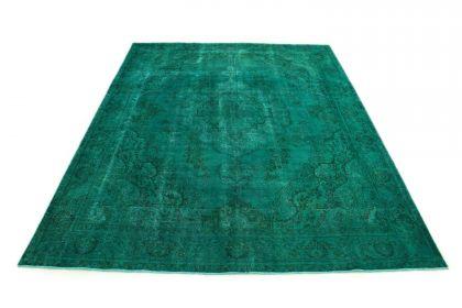 Carpetido Design Vintage-Teppich Türkis Grün in 390x290