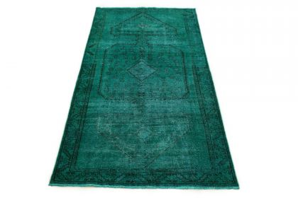 Carpetido Design Vintage-Teppich Türkis Grün in 290x140