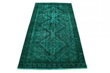 Carpetido Design Vintage-Teppich Türkis Grün in 290x160