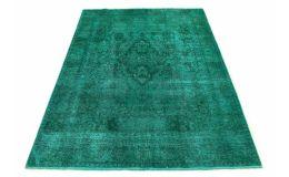 Carpetido Design Vintage-Teppich Türkis Grün in 290x190