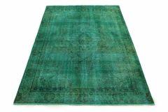 Carpetido Design Vintage-Teppich Türkis Grün in 270x180