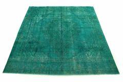 Carpetido Design Vintage-Teppich Türkis Grün in 290x280