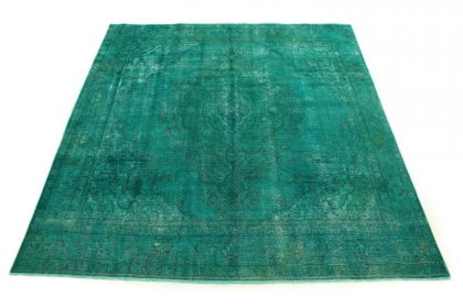 Carpetido Design Vintage Rug Turquoise Green in 290x280