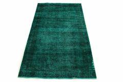 Carpetido Design Vintage-Teppich Türkis Grün in 190x110