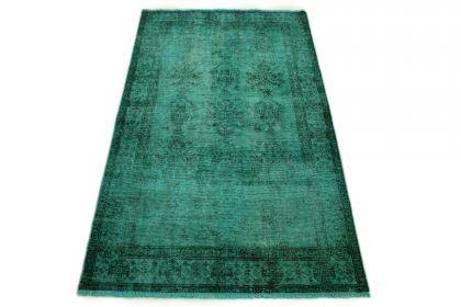 Carpetido Design Vintage Rug Turquoise Green in 200x120