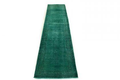 Carpetido Design Vintage Rug Turquoise Green in 350x80
