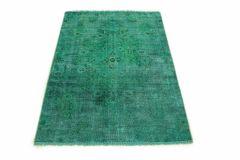 Carpetido Design Vintage-Teppich Türkis Grün in 160x100