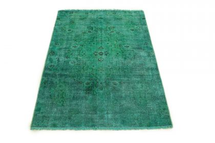 Carpetido Design Vintage Rug Turquoise Green in 160x100