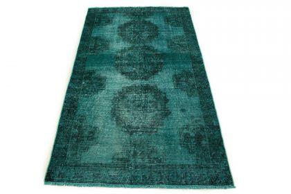 Carpetido Design Vintage Rug Turquoise Green in 190x110