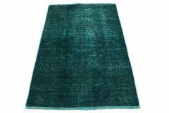 Carpetido Design Vintage-Teppich Türkis Grün in 130x90