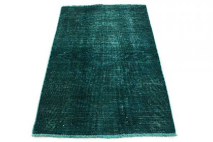 Carpetido Design Vintage Rug Turquoise Green in 130x90