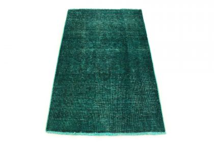 Carpetido Design Vintage Rug Turquoise Green in 140x90