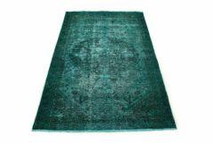 Carpetido Design Vintage-Teppich Türkis Grün in 200x130