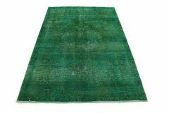Carpetido Design Vintage-Teppich Grün in 220x150