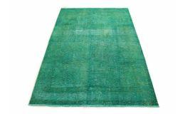 Carpetido Design Vintage-Teppich Türkis Grün in 220x150