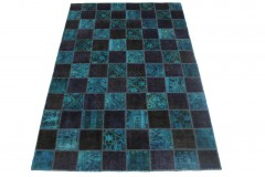 Patchwork Rug Blue in 240x160cm