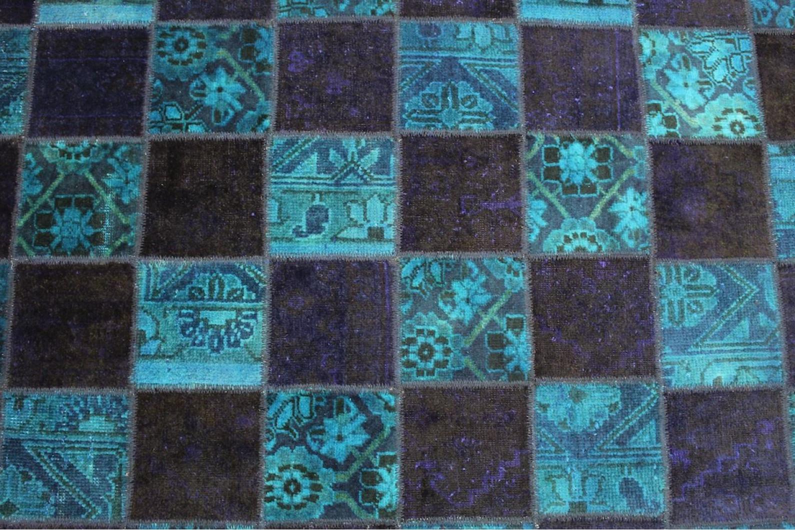 patchwork teppich blau in 240x160cm 1001 2152 bei kaufen. Black Bedroom Furniture Sets. Home Design Ideas
